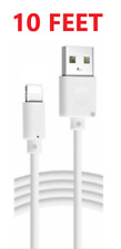 10FT Extra Long USB Cable For Apple iPad 4 Air Mini 2 iPhone Lightning Charger