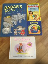 Bundle Of Kids Hardback Books - Barbar's Battle Fox's Socks Rosie & Jim Our Home