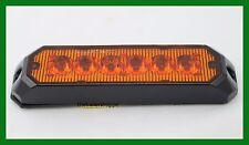 UPI Amber 6 High Power LED Strobe Warning Surface Mount Light Surface Mount