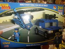 NEW 246 PIECES BEST-LOCK CONSTRUCTION POLICE PLAY SET 100%COMPATIBLE