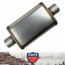 "3"" Megapower Straight Through 409 Stainless Steel Muffler Centre In / Out 14x9x4"