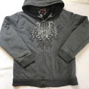 Tony Hawk Jacket Hoodie Fullzip Gray Kids Medium (10-12) Boys Sweater
