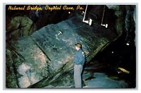 Crystal Cave, Pennsylvania PA, Natural Bridge, Allentown, Postcard Unposted