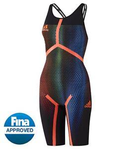 Adidas Women's Adizero XVI Freestyle Open Back Tech Suit size: 26 & 28  NWT