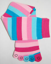 Toe socks cotton pairs warm girls womens 5 toes five fun funky color Christmas