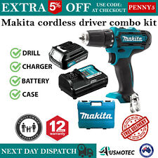 Makita Cordless Drill Driver 12V Kit 1.5Ah Battery & Charger with Case 2 Speed