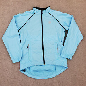 Canari Cycling Jersey Men's Large Removable Sleeves Full Zip Blue