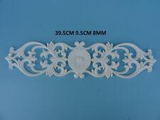 Decorative large ornate flower scroll resin furniture moulding applique Z17