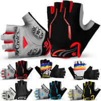 MTB Bike Cycling Half Finger Gel Pads Gloves Bicycle Riding Race Fingerless New