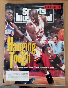 Michael Jordan Bulls June 7 1993 Sports Illustrated magazine hanging tough