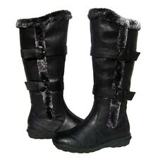 New Women's BOOTS Knee High Black Winter Fur Lined Snow shoe Ladies size 6
