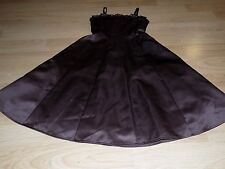 Girl's Size 8 Biscotti Chocolate Brown Satin Formal Dress Special Occasion EUC