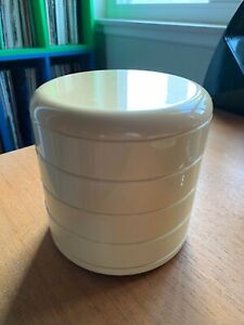 Vintage InterDesign Cream Round Swivel Plastic Organizer
