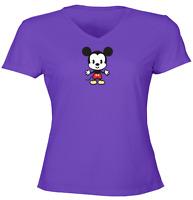 Juniors Girls Women Tee T-Shirt Gift Shirts Cuties Mascot Mickey Mouse Kawaii