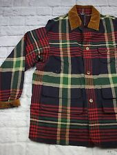 VTG Men's Size Large POLO RALPH LAUREN Plaid Canvas Hunting & Fishing Jacket  *5