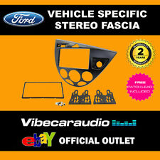 Ford Focus 1999 - 2004 Stereo Double Din Fascia Facia Panel Plate Kit CT23FD32