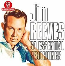 JIM REEVES - 60 ESSENTIAL RECORDINGS  3 CD NEW!