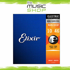 6 Sets of Elixir Nanoweb 10-46 Electric Guitar Strings - 12052 - Bulk Buy