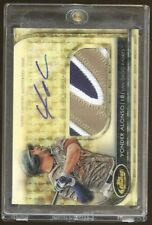 2012 Topps Finest Superfractor Yonder Alonso RPA RC 3-Color Patch AUTO 1/1