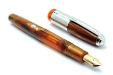 Buy 1 Get 1 Free- Wality 71J Eyedropper Big Size Fountain Pen Orange Marble Body