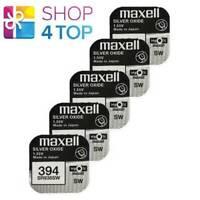 5 Maxell 394 380 SR936SW Piles Argent 1.55V Montre Batterie Exp 2022 Neuf