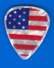 TED NUGENT GUITAR PICK AMERICAN FLAG 2012 GREAT WHITE BUFFALO CONCERT TOUR PEARL