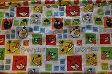 Angry Birds Full Size Flat Sheet Cutter  Fabric