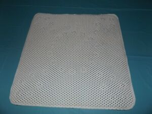 NWOT-White Square Shower Mat W/Drainage Holes-20 3/4""