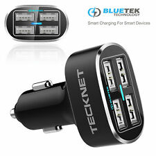 TeckNet Multi 4 Port USB Car Charger Cigarette Lighter 9.6A/48W Power Socket