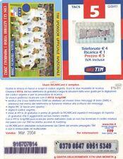 5€. Emisión Básica. Tim sponsor ufficiale nazionale Italia-Francia 2000.