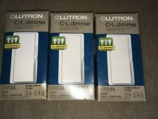 LUTRON Diva DVCL-153PR-WH Single /3-Way 150W CFL/ LED 600W INC/HAL Dimmable x3