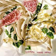 "Vintage Cohama Home Decor 50"" W Glowing Polished Cotton Pink & Ivory Floral, Bty"