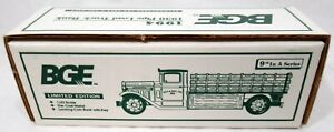 Vintage Ertl BGE #B803 1930 Pipe Load Truck Bank With Box & Key 1/43 Scale
