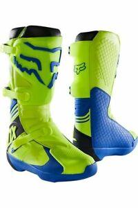 Fox Racing Comp Boot Stiefel - Motocross MX Cross Enduro Gelb Blau *NEU*