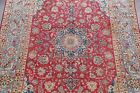 Traditional Floral ANTIQUE Red/Blue Najafabad Area Rug Hand-Knotted Wool 8'x13'