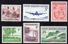 Cocos 1963 #1-6 definitives Mnh