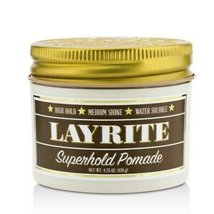 NEW Hair Care Layrite Superhold Pomade (High Hold, Medium Shine, Water Soluble)