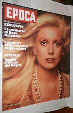 EPOCA 17 marzo 1974 Catherine Deneuve Mauro Ferri Canale di Suez Rose Kennedy di