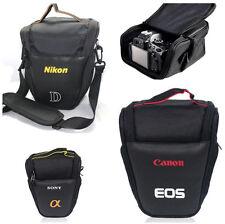 Triangle DSLR Camera Bag Zipper Shoulder Case Pouch For Canon Sony Nikon EOS