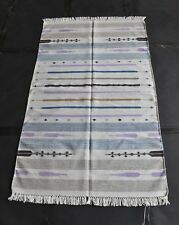 Tribal Kilim Hand Woven  80% Silk 20% Cotton Multi Color Area Rug Flat Wave Rug