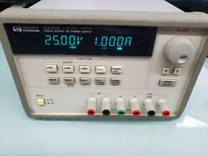 Hewlett Packard E3631A Triple Output DC Power Supply 6V, 5A & ±25V, 1A