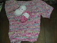 Multi Pinks 50 gram ball Fashion Flag Fancy Yarn