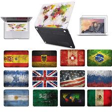 "Macbook Air Pro 11 12 13 15 16""WorldMap Flag Hard Shell Case Keyboard Cover Skin"