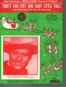 Thirty-Two Feet and Eight Little Tails 1951 Gene Autry Sheet Music