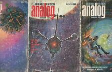 3 Issues Analog Science Fiction and Fact Magazine March September December 1972