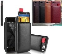 Luxury Real Leather Back Wallet Case Cover For New Apple iPhone 7 8 X XR XS MAX