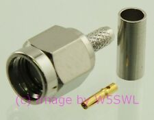 Reverse Polarity SMA Male Crimp Connector  RG-174 LMR100 - 2 PACK - by W5SWL ®