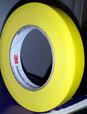 NEW 3M 3/4 INCH AUTOBODY YELLOW AUTOMOTIVE MASKING TAPE FOR PAINTING PRIMING