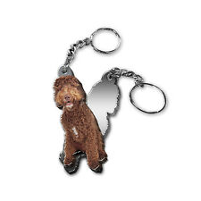 MIRRORED ACRYLIC LABRADOODLE KEYCHAIN DOG KEYRING KEY CHAIN CHAINS Made in USA