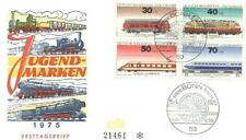 Germany 1975 FDC 836-39b Locomotives Lokomotiven